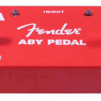 Fender 2-Switch ABY Footswitch Pedal, Red for sale