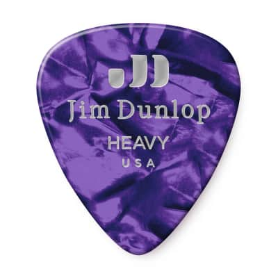 Dunlop 483P13HV Celluloid Standard Classics Heavy Guitar Picks (12-Pack)