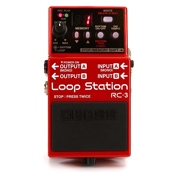 brand new boss rc 3 loop station compact phrase recorder reverb. Black Bedroom Furniture Sets. Home Design Ideas