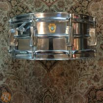 """Ludwig 6.5x14 """"Super Ludwig"""" Chrome Over Brass Snare Drum 1960-1963 image"""