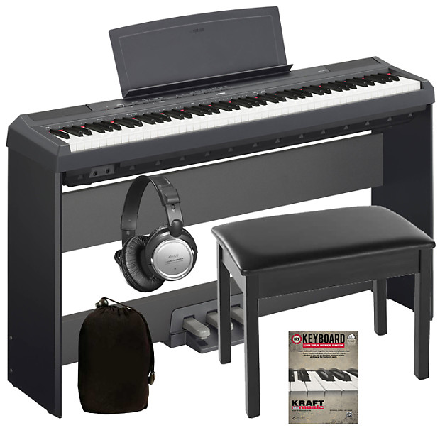 Yamaha P  Digital Piano Black Complete Home Bundle
