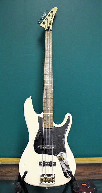 1989 epiphone by gibson rock bass ch wh white reverb. Black Bedroom Furniture Sets. Home Design Ideas