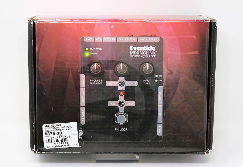 eventide mixing link preamp and fx loop the guitar hub reverb. Black Bedroom Furniture Sets. Home Design Ideas