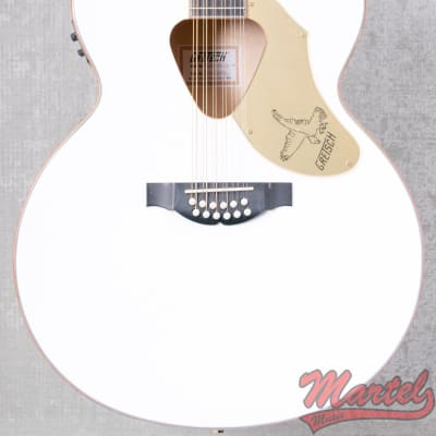 Gretsch G5022CWFE-12 Rancher Falcon Jumbo 12-String Cutaway, White for sale