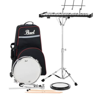 Pearl PL910C Student Snare and Bell Kit with Rolling Case