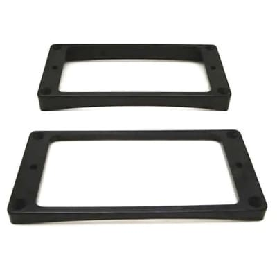Humbucker Ring Set-Tapered w/ Curved Bottoms-Black