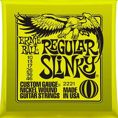 Ernie Ball 2221 Regular Slinky Nickel Wound Set Electric Guitar Strings (10-46)