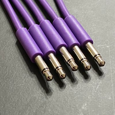 Eurorack Patch Cable 6 inch (5pcs) Purple