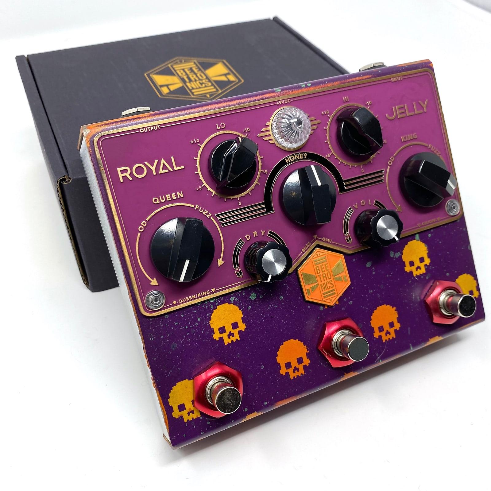 "Beetronics Royal Jelly ""Gamer Skull"" Halloween 2020 Custom Edition, Purple/Orange"