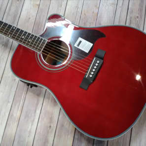 Epiphone FT-350SCE Acoustic/Electric Guitar w/ Min-ETune Wine Red