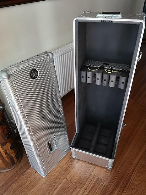 297595df70c Scott Dixon Custom Double Acoustic Guitar Case Flightcase Vault Silver