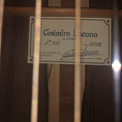 Casimiro Lozano 2002 1A  R10 Concert Classical Guitar for sale