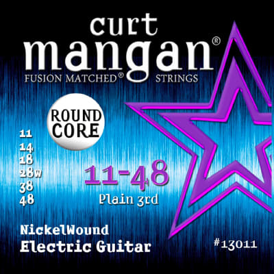 Curt Mangan 11-48 Round Core Nickelwound Electric Guitar Strings - 2 Packs - Free Shipping