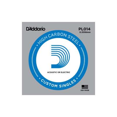 D'Addario Nickel Plain Electric/Acoustic Single String PL014