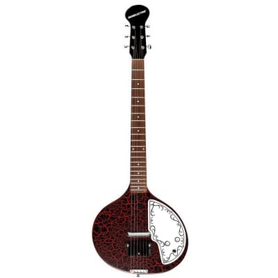 Danelectro Baby Sitar Red Crackle *Free Shipping in the USA* for sale