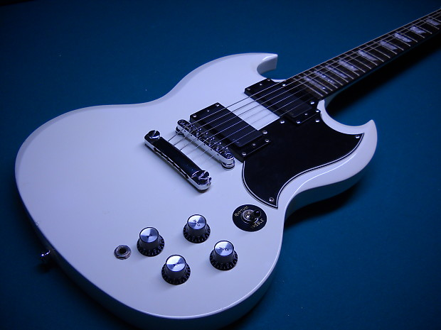 Epiphone Sg Limited Edition G 400 Custom Shop White With Emg Reverb