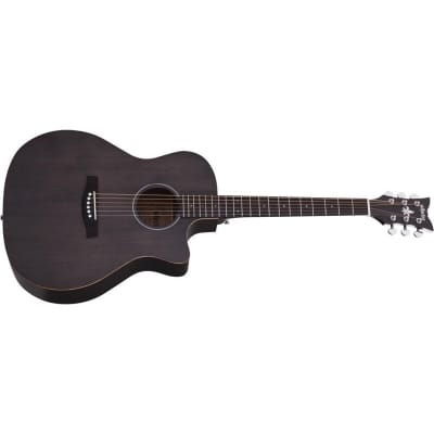 Schecter Deluxe Acoustic, Satin See-Thru Black, Special Order for sale