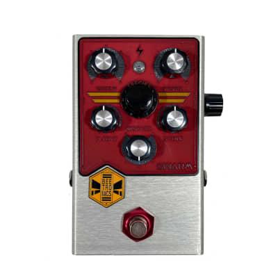 Beetronics Limited Edition Swarm Analog Fuzz Harmonizer Pedal - Silver & Red