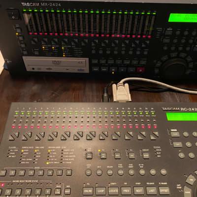 TASCAM MX-2424, 24 Track/24Bit Hard Disk recorder  with RC 2424 remote  2001 Black