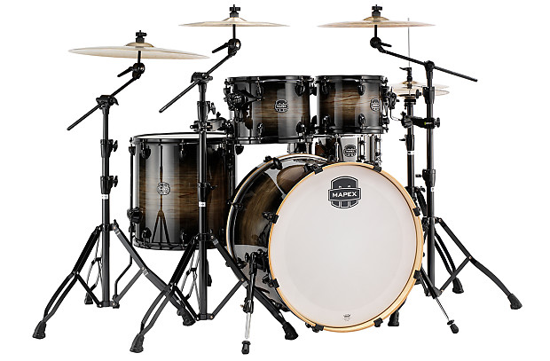 Mapex Armory Drum Set Rock 5 Piece Shell Pack 22 Black Reverb