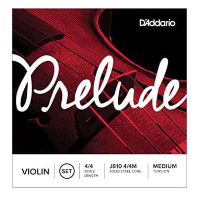 D'Addario Violin Prelude Set 4/4 Medium, J810 4/4M