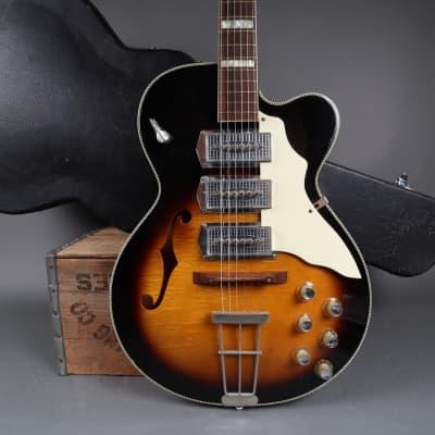 Kay K673 Swingmaster Flame Sunburst  3 Pickup 1960s + Hardshell Case for sale