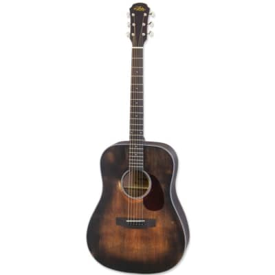 Aria 111DP Delta Player Dreadnought Acoustic Guitar, Muddy Brown for sale