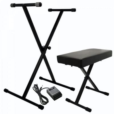 On-Stage Keyboard Stand/Bench Pak with KSP20 Sustain Pedal