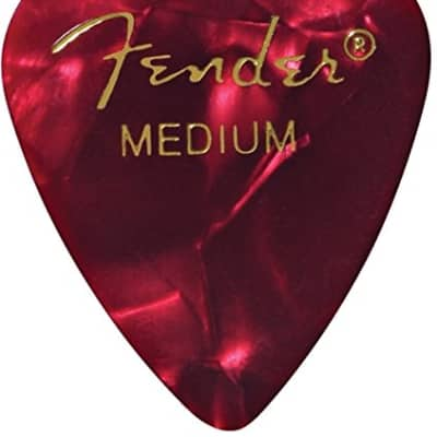 Fender 351 Premium Celluloid Guitar Picks - MEDIUM, RED MOTO - 12-Pack (1 Dozen) for sale
