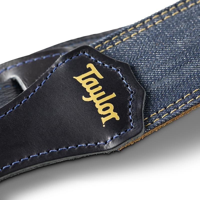 Taylor Blue Denim Strap, Navy Leather Edges, 2