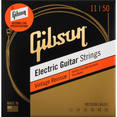 Gibson 11-50 Medium Vintage Reissue Electric Guitar Strings for sale