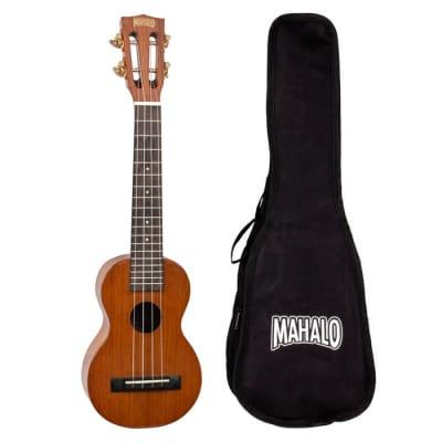 Mahalo MJ1CSVNA Java Series Concert Scale Neck Soprano Ukulele w/Gig Bag
