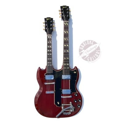 1969 Gibson EMS-1235 Double Mandolin double neck EDS-1275 Extremely rare Cherry red. Doubleneck.