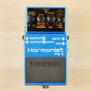 Boss PS-6 Harmonist - Harmonizer - Pitch Shifter - Detuner - Guitar Effects Pedal - VG W/ Box!