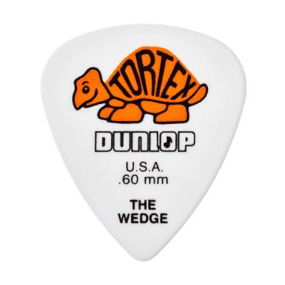 Dunlop 424R60 Tortex Wedge .60mm Guitar Picks (72-Pack)
