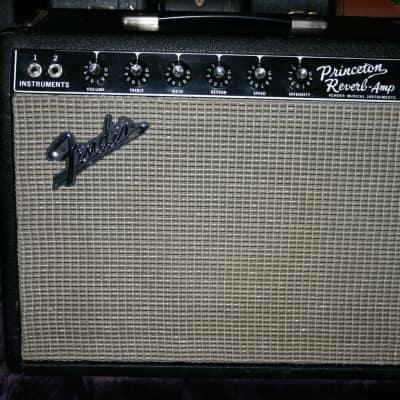 *LOOK* 1967 Fender Princeton Reverb Blackface Guitar Amplifier   * NEAR MINT* for sale
