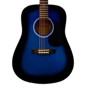 Beaver Creek BCTD101BB Dreadnought Acoustic Guitar BCTD101 (Blue/Blueburst) for sale