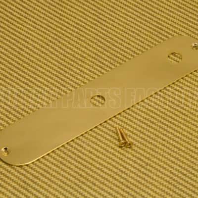 770-8090-000 Squier Fender John 5 Gold Custom Tele Control Plate No Switch Slot image