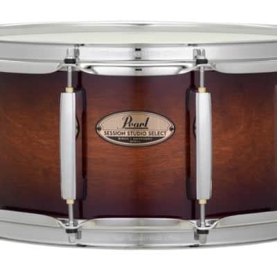Pearl Session Studio Select 14x6.5 Snare Drum - Gloss Barnwood Brown
