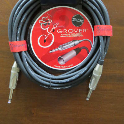 Grover 20' Instrument Cable Black for sale