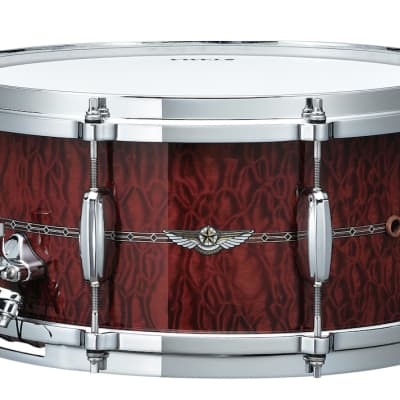 Tama Star Mahogany 14x6.5 Snare Drum - Quilted Natural Waterfall Sapele