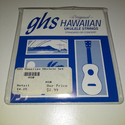 GHS H10 Hawaiian Concert Ukulele String Set - Black Nylon