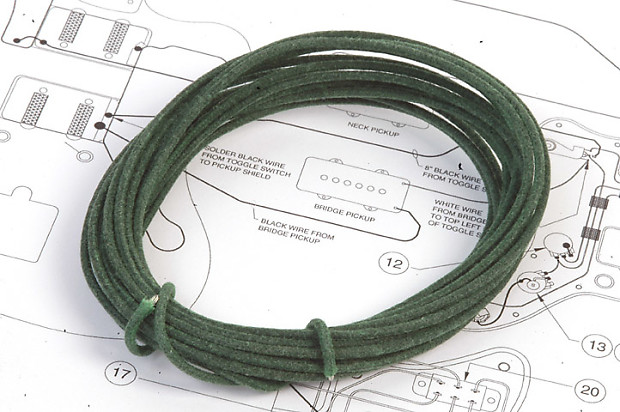 12 Ft Gavitt USA Green Vintage Waxed Cloth Insulated 22g | Reverb