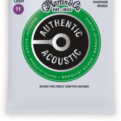 Martin MA535S Authentic Acoustic Marquis Silked Custom Light Strings 11-52