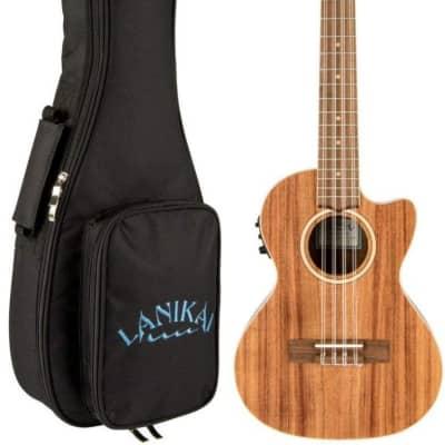 Lanikai ACST-8CET Solid Top Acacia 8 String Tenor Acoustic Electric Ukulele +Bag