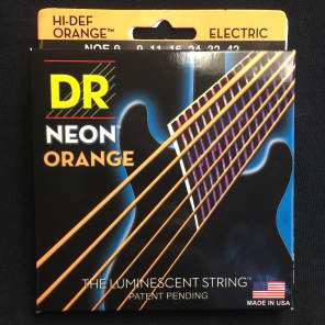 DR Neon Phosphorescent Orange HiDef Light Electric Guitar Strings