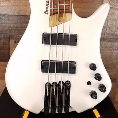Ibanez Bass Workshop EHB1000 Bass Guitar Pearl White Matte, Open Box, Free Ship 8070 for sale