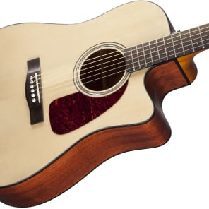 Fender CD-140SCE Solid Spruce/Rosewood Cutaway Dreadnought w/ Electronics Natural