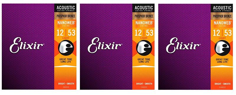 Elixir 16052 Nanoweb Coated Phosphor Bronze Acoustic