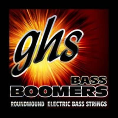GHS M3045 Bass Boomers 4-String Bass Set, Long Scale 45-105
